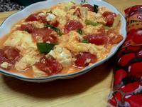 蕃茄炒蛋豆腐-蕃茄醬懶人料理