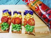 彩虹吐司披薩~蕃茄醬懶人料理