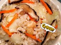 香噴噴!香菇蝦米高麗菜飯 ♪ ♪