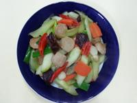 黃瓜炒貢丸