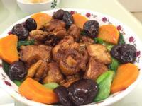鮮蔬花雕酒煨香菇雞