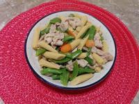 玉米筍甜豆炒豬肉片