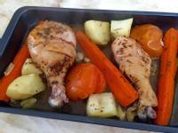 紅蘿蔔薯仔烤雞腿