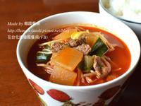 韓式辣牛肉蘿蔔湯, 얼큰소고기무국