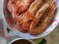 阿根廷野生刺身大紅蝦配薑蔥頭蒜頭醬汁