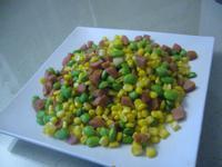 德式香腸炒玉米