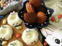 瑪德蓮以及麵糊應用製作復活節兔子小蛋糕