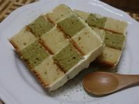 小烤箱-抹茶棋盤蛋糕