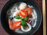 魚高湯的做法---海鮮烏龍麵