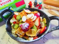 香煎土司佐水果玉米脆片『雀巢玉米脆片』