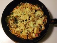 豆腐蔬菜肉醬義大利麵