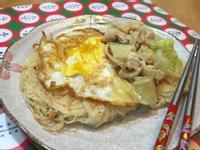 麻油雞半熟蛋煎麵線