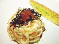 [寵愛自己] 明太子白醬義大利麵佐鮭魚卵