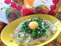 菇香葱拌月見牛肉醬麵-記憶中的味味麵