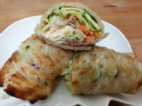 蔬菜沙拉捲小七野餐趣