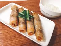 簡單又好吃的泡菜竹輪豬肉捲