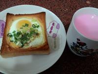 營養活力早餐~起司太陽蛋吐司