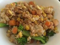香噴噴的鮭魚蛋炒飯(無油)
