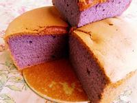 紫爵地瓜戚風蛋糕-燕麥版