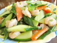 小黃瓜炒蝦仁