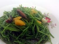 《客家美食》鳳梨豆醬炒野蓮
