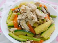 涼拌溫野菜雞絲沙拉