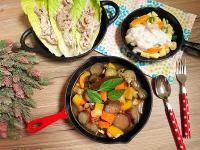 一鍋上桌:義式燉菜+生菜烤肉捲+鮮蔬沙拉