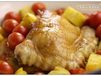 鳳梨蕃茄烤雞腿排