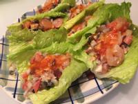杏仁果蝦仁生菜沙拉