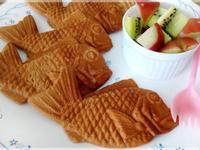 鯛魚造型的黑糖麻糬餅
