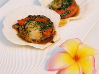 【小磨坊】羅勒青醬烤扇貝