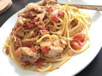 番茄菇菇雞肉義大利麵