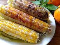 水煮彩色玉米