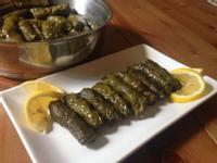 橄欖油涼菜7---大米葡萄葉捲
