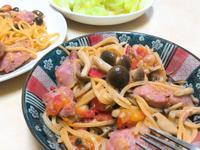 台味的茄汁香腸義大利麵