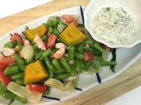 [夏日料理]烤南瓜鮮蝦四季沙拉