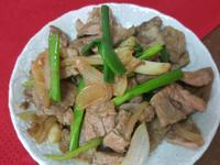 蔥燒梅花肉片