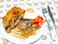 蘑菇雞腿排特餐🍝