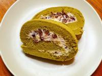 紅豆抹茶戚風蛋糕捲