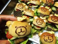【早安麵包機の練習曲】小熊漢堡
