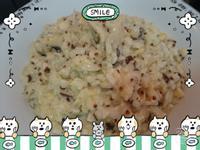 奶香玉米香菇吻仔魚黎麥燉飯