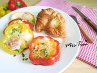 甜椒起司蛋,十分鐘搞定完美早餐!