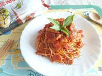 培根蕃茄起司麵-簡單快速--五木拉麵