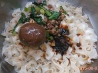 香滷肉末蛋麵(五木麻辣寬捲麵)-五木拉麵