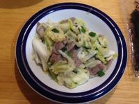 高麗菜炒豬排肉