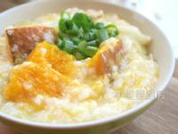 南瓜高麗菜肉絲粥