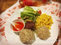 西谷米珍珠丸佐奶油玉米蒸(享瘦電鍋料理)