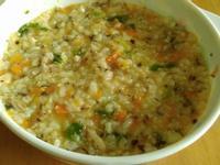 寶寶副食-鮮菇雞腿肉什菜燉飯