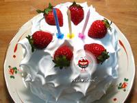 """♡宛の烘培好""""食""""光 ✿ 草莓奶油抹茶紅豆蛋糕"""