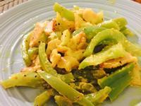 青椒炒黃芥末雞丁